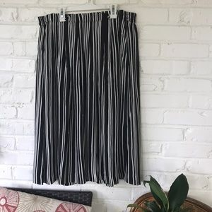 H and M striped Midi Skirt
